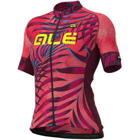 Alé Cycling Graphics PRR Sunset SS Jersey Dame gerbera/bordeaux